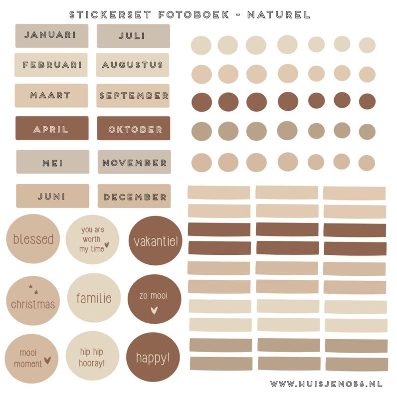 Stickers - fotoboek naturel