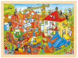 RaamPuzzel Bouwplaats - 96 stukjes