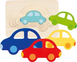 Laagjespuzzel Groot - Klein Auto's