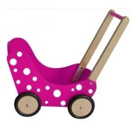 Poppenwagen Roze