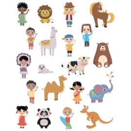 240 Wereldkinderen Stickers