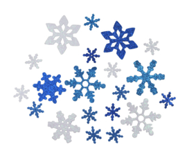 Sneeuwvlok Foamies met Glitter