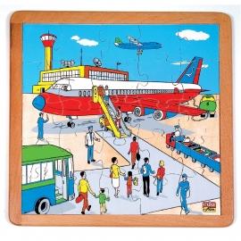 RaamPuzzel Vliegveld - 25 stukjes