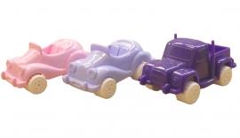 3 Pastel Autootjes