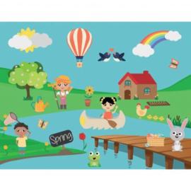 Achtergrond Stickers Seizoenen