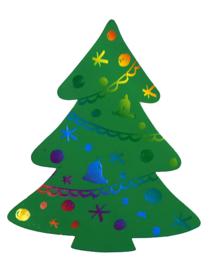 36 x KrasFolie Kerstboom