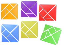 6 Kleuren Tangram Transparant