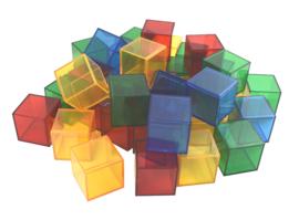 Transparante Vierkante Blokken