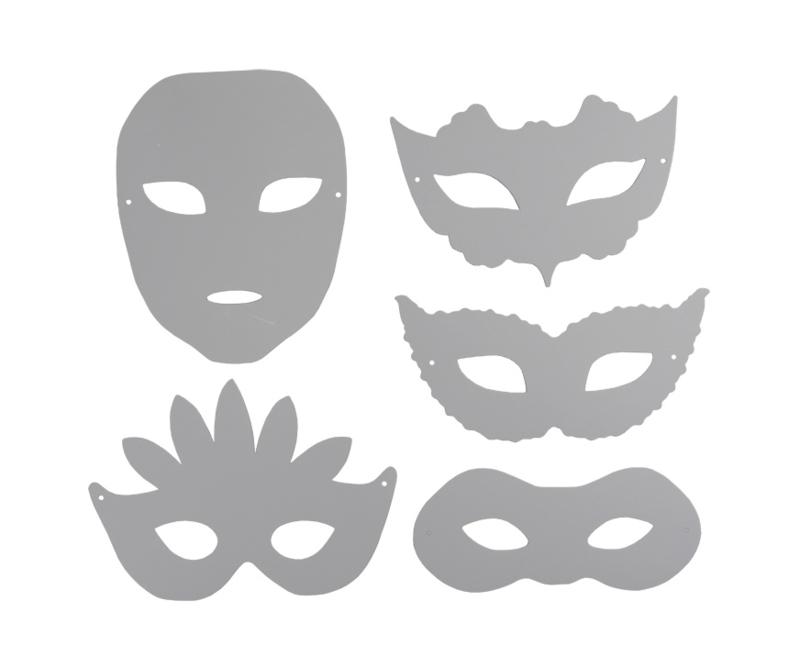 16 kartonnen Maskers