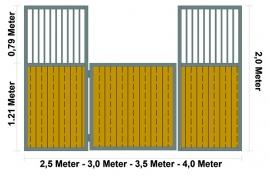 Ön panel düz üst kapısız (çeşitli ebatlar)