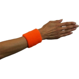 Pols/zweetbandje oranje