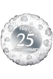Folieballon 25 jaar getrouwd