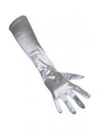 Handschoen lang zilver