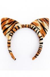 Diadeem tijger/kat print