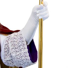 Handschoen lang wit