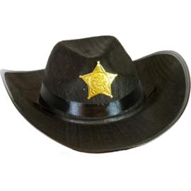Cowboyhoed klein zwart vilt