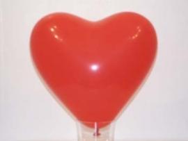 Hart ballon rood