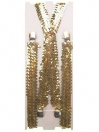 Bretels paillet goud