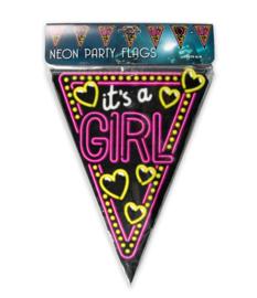 Neon vlaggenlijn Its a Girl