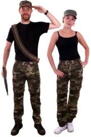 Camouflage broek volwassenen