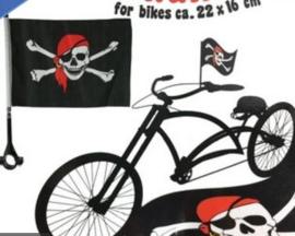 Piraten fiets vlag