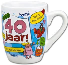 Beker-Mok 40 jaar vrouw