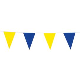 Vlaggenlijn blauw/geel