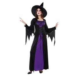 Heks violet met hoed