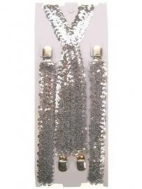 Bretels paillet zilver
