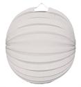 Lampion rondmodel wit