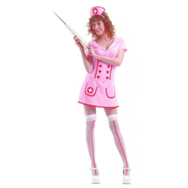 Verpleegsterjurk roze