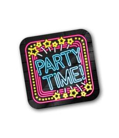 Neon onderzetter Party Time
