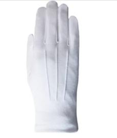 Kerstman handschoenen wit