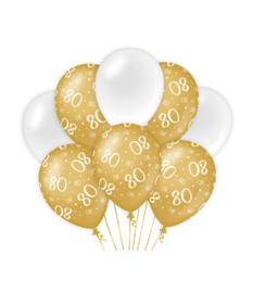 Gold/White 80 jaar