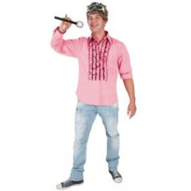 Jaren 60 hemd roze