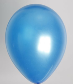 Ballon blauw metallic