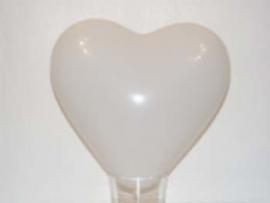 Hart ballon wit