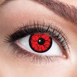 Rood zwarte rand gebarsten