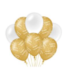 Gold/White Happy Birthday