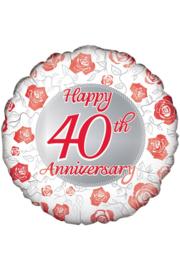 Folieballon 40 jaar getrouwd