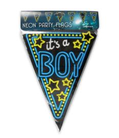 Neon vlaggenlijn Its a Boy