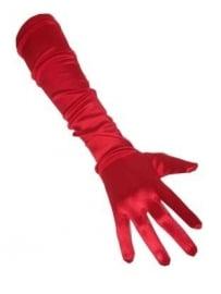 Handschoen lang rood