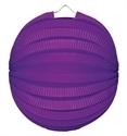Lampion rondmodel paars