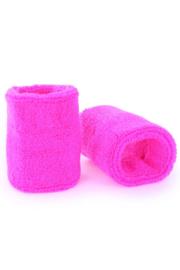 Pols/zweetbandjes neon roze