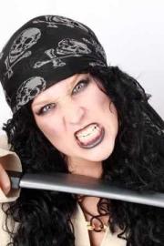 Piraten hoofddoek zwart