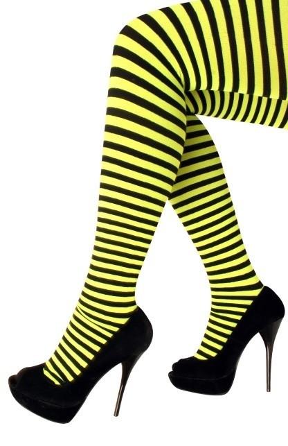 Panty geel zwart