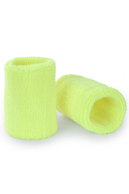 Pols/zweetbandjes geel