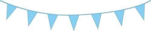 Vlaggenlijn babyblauw