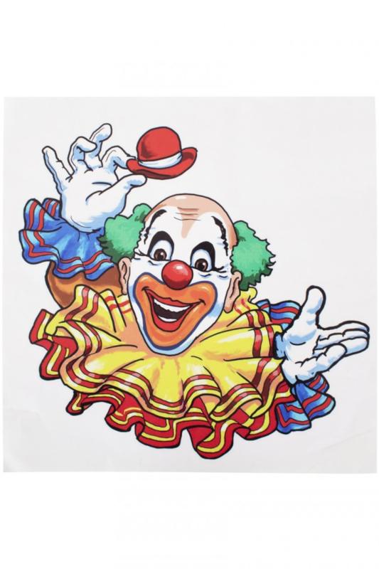 Raamsticker clown