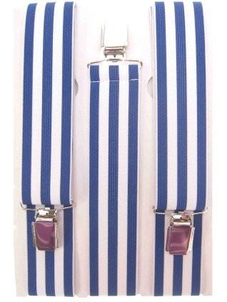 Bretels blauw/wit gestreept